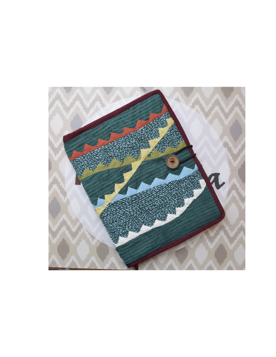 Hand embroidered diary sleeve with journal - STJ07-STJg07B
