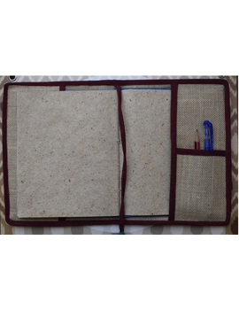 Hand embroidered diary sleeve with journal - STJ07-4-sm