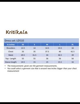 BLACK IKAT AND MANGALAGIRI COTTON DRESS WITH MATCHING PANTS : LD510A-XL-4-sm