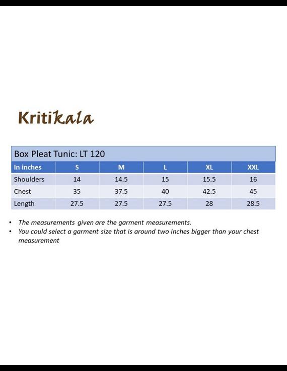 VINTAGE ROSE BOX PLEAT TUNIC: LT120B-XXL-4