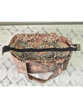 Brown and grey kalamkari tote bag : TBC05-2-sm