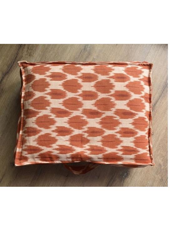 Saree storage bag in ikat cotton with set of ten saree sleeves : MSK01-1