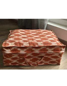 Saree storage bag in ikat cotton with set of ten saree sleeves : MSK01-MSK01A-sm