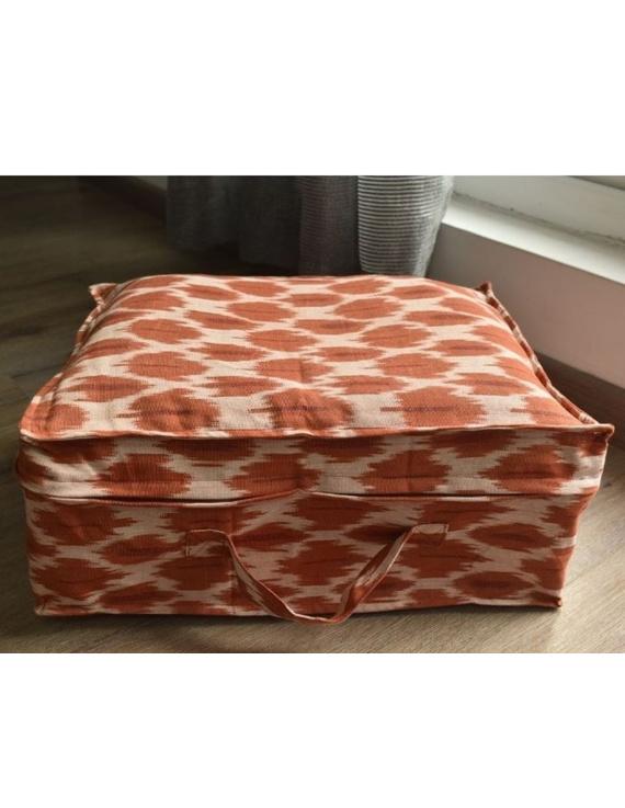 Saree storage bag in ikat cotton with set of ten saree sleeves : MSK01-MSK01A