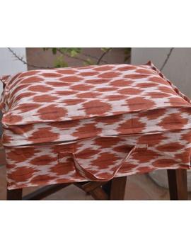 Saree storage bag in ikat cotton with set of ten saree sleeves : MSK01-3-sm