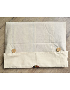 Saree storage bag in ikat cotton with set of ten saree sleeves : MSK01-4-sm