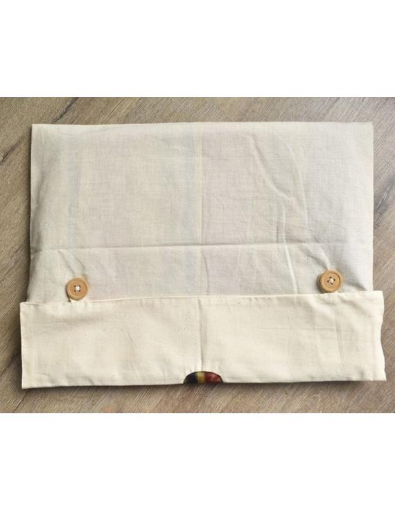 Saree storage bag in ikat cotton with set of ten saree sleeves : MSK01-4