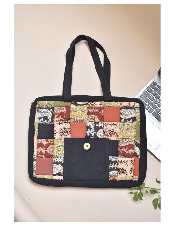 Patchwork quilted laptop bag - black : LBP03-LBP03