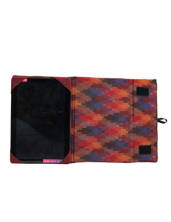 Maroon ikat tablet sleeves : LBT02-2
