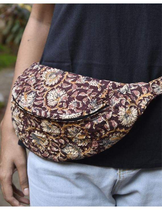 Fanny bag or waist bag in brown kalamkari: VKF01A-VKF01A