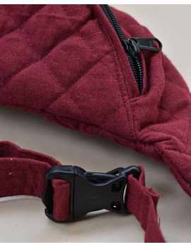 Fanny bag or waist bag in maroon cotton: VKF01C-2-sm