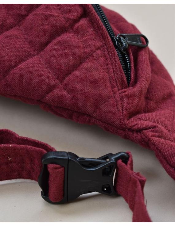 Fanny bag or waist bag in maroon cotton: VKF01C-2