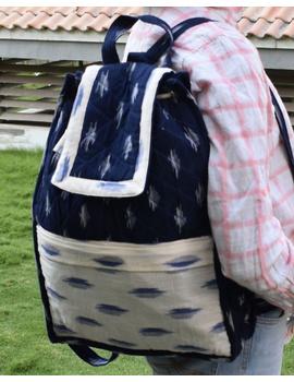 Blue ikat backpack laptop bag : LBB03-LBB03-sm