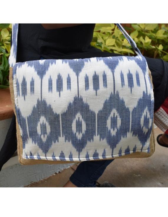 Ikat Laptop bag - blue and white : LBI02-LBI02