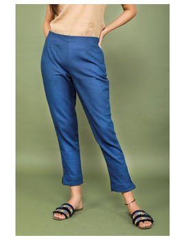 Cotton narrow pants with elasticated waist: EP02-EP02Al-L-sm