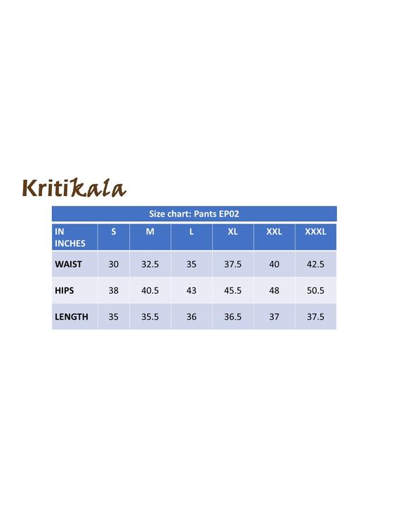 Cotton narrow pants with elasticated waist: EP02-Blue-XXL-5