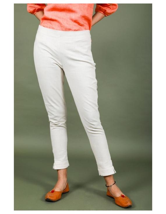 Cotton narrow pants with elasticated waist: EP02-EP02Bl-XL