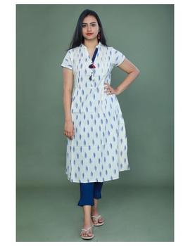 Casual dress with pintucks and tassels : LD340-LD340Al-XS-sm