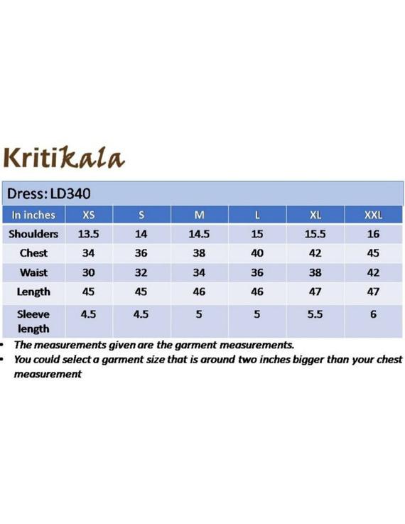 Casual dress with pintucks and tassels : LD340-Blue-XXL-4