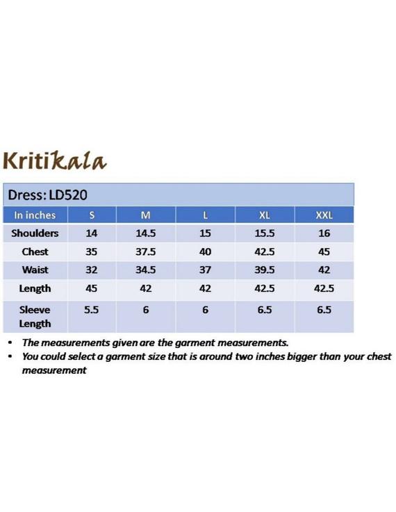 Ikat calf length dress with pintucks and pockets: LD520-Blue-XL-1