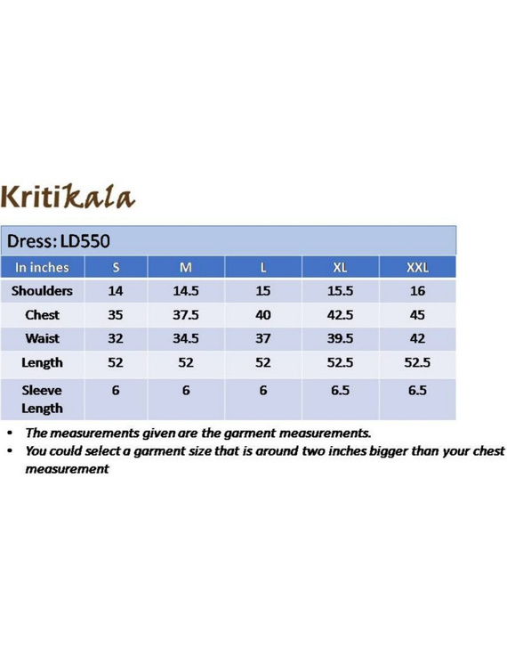 Ikat dress with embroidered yoke and petal sleeves: LD550-Blue-XXL-1