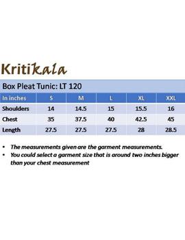 Pure linen box pleat tunic designed with shirt collar : LT120-XXL-Blue-3-sm