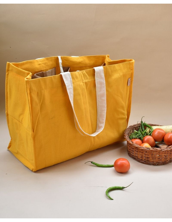 Canvas vegetable bag - yellow : MSV03-MSV03
