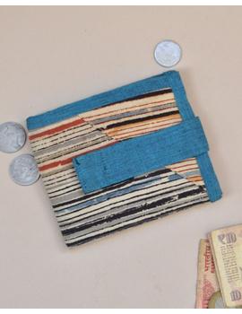 Blue stripe unisex wallet broad : WLU03-WLU03-sm