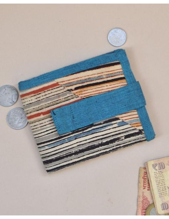 Blue stripe unisex wallet broad : WLU03-WLU03