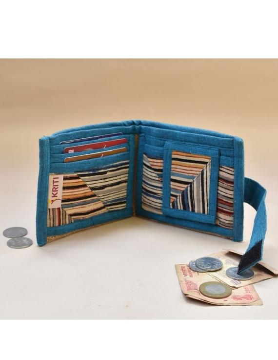 Blue stripe unisex wallet broad : WLU03-5