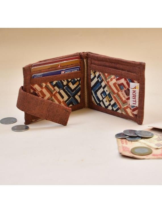 Narrow unisex wallet - brown : WLN01-1