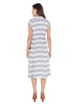 MOTIF A LINE DRESS IN DOUBLE IKAT : LD350-Grey-S-4-sm