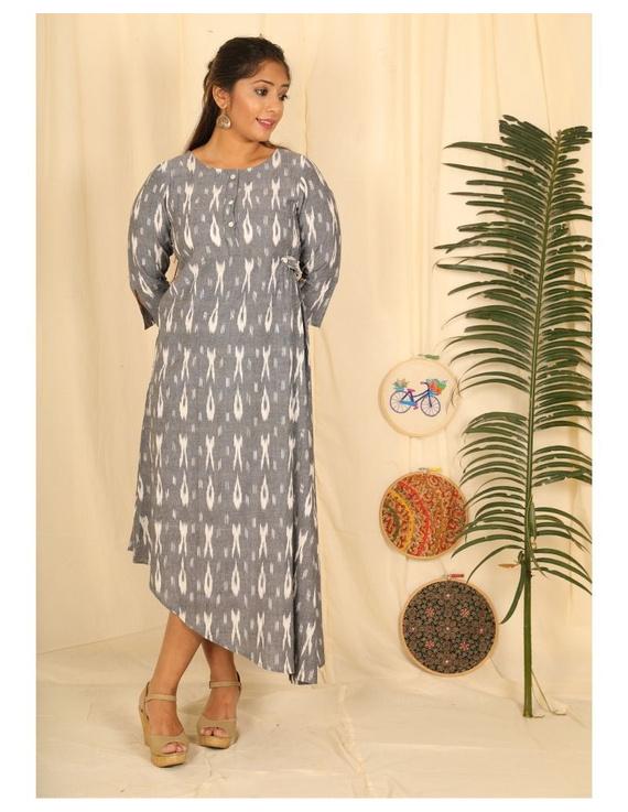 Ikkat fabric with an assymetric hem : LD450-LD450El-XXL