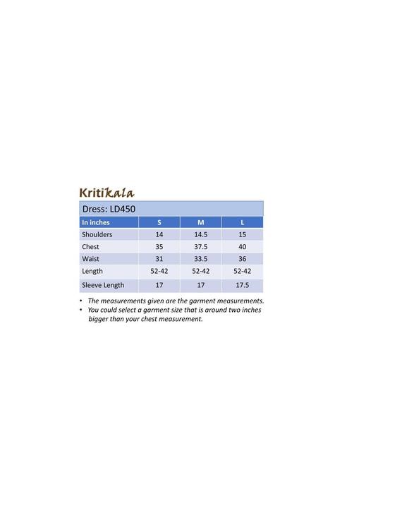 Ikkat fabric with an assymetric hem : LD450-Grey-XXL-4