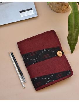 Reusable diary sleeve with diary - maroon : STJ04-STJ04-Ruled-sm
