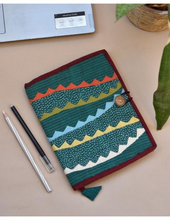 Hand embroidered diary sleeve - STJ07-STJ07