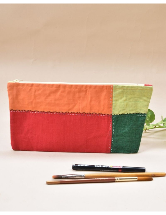 MULTICOLOUR PENCIL POUCH WITH GREEN TONES: PPE02-PPE02