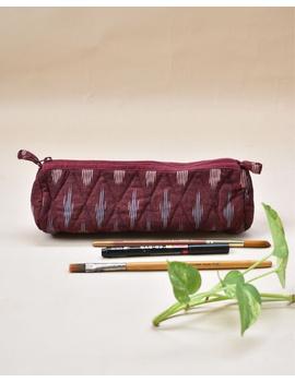 Ikat round shape pencil pouch : PPR01-PPR01-sm