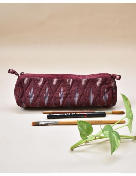 Ikat round shape pencil pouch : PPR01-PPR01