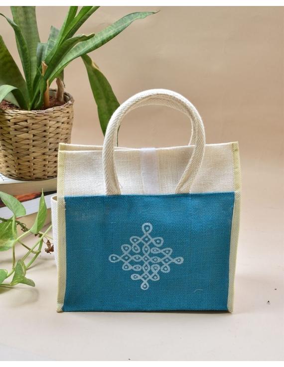 BLUE JUTE LUNCH BAG: MSL02-MSL02