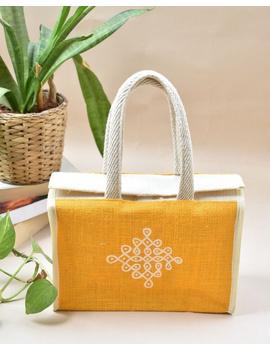 YELLOW JUTE LUNCH BAG: MSL03-MSL03-sm