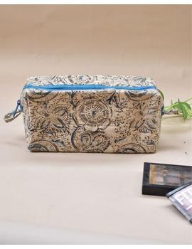 Blue kalamkari travel pouch : VKP05-VKP05-sm