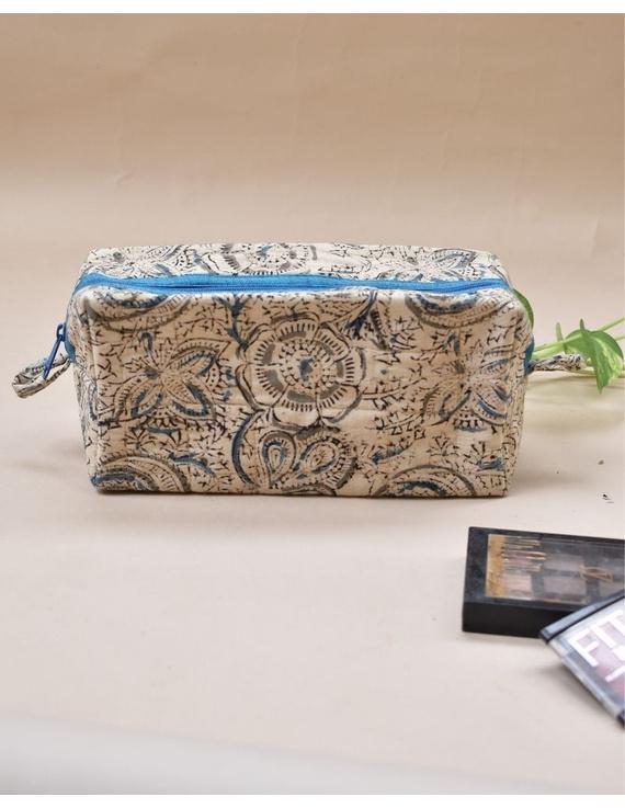Blue kalamkari travel pouch : VKP05-VKP05