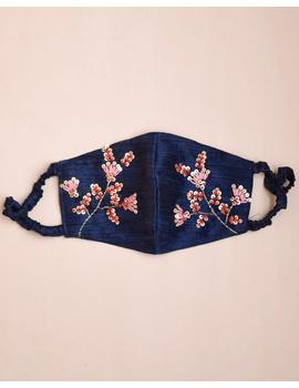 Semi silk mask with zardosi hand embroidery: ZM4-ZM4B-sm