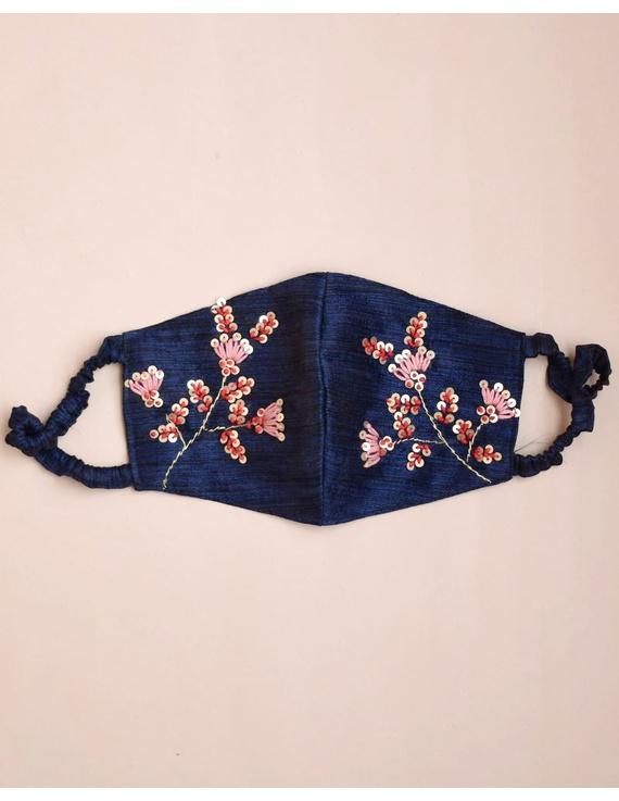 Semi silk mask with zardosi hand embroidery: ZM4-ZM4B
