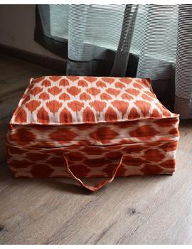 Saree storage bag in ikat cotton with set of ten saree sleeves : MSK01D-MSK01D-sm