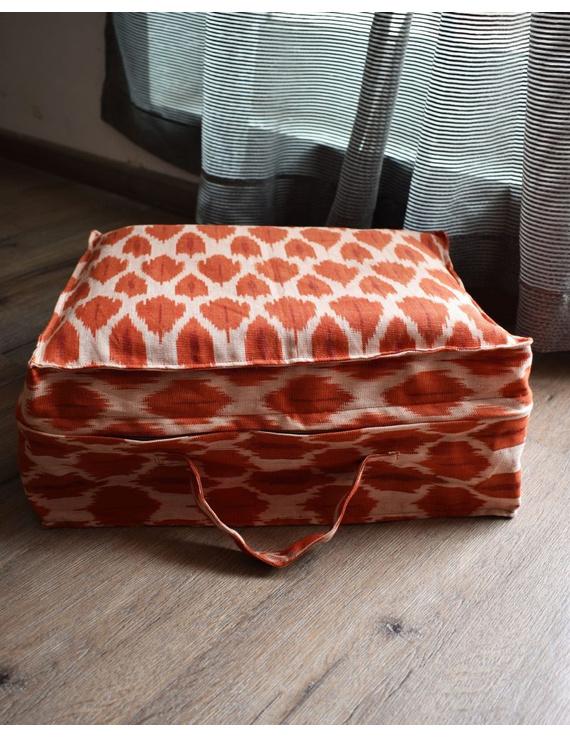 Saree storage bag in ikat cotton with set of ten saree sleeves : MSK01D-MSK01D