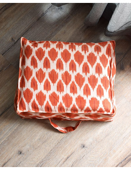 Saree storage bag in ikat cotton with set of ten saree sleeves : MSK01D-2-sm