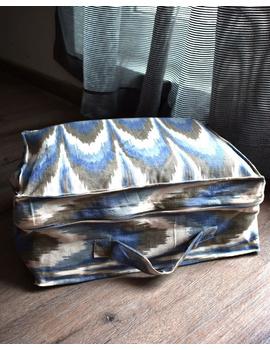 Saree storage bag in ikat cotton with set of ten saree sleeves : MSK01E-MSK01E-sm
