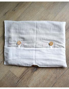 Saree storage bag in ikat cotton with set of ten saree sleeves : MSK01E-3-sm